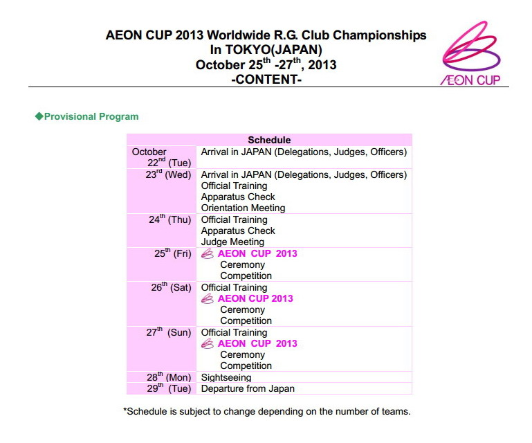Aeon cup 2013 Schedu10