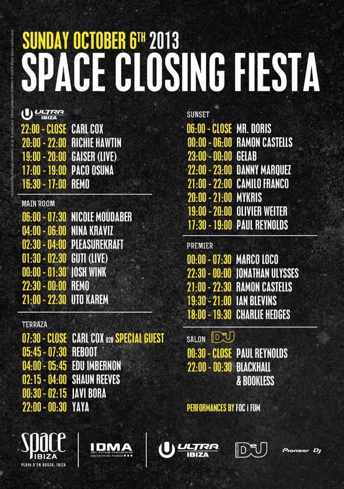 2013.10.06. - UTO KAREM - LIVE @ CLOSING FIESTA, SPACE (IBIZA, SPAIN) 99342110