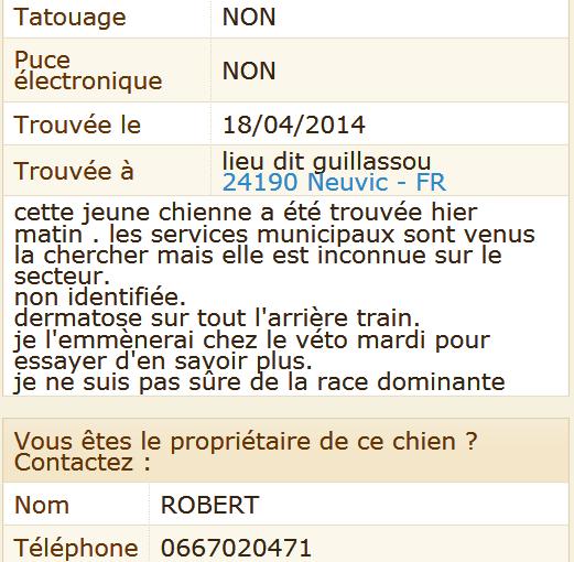 trouvée dans le 24 / la Dordogne Trouva11