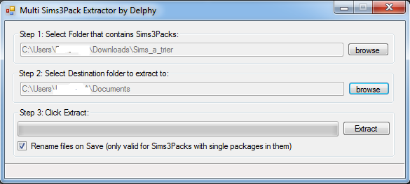 [Fiche] Le Sims3pack Multi-extracter: convertir des sims3packs en packages Conv210