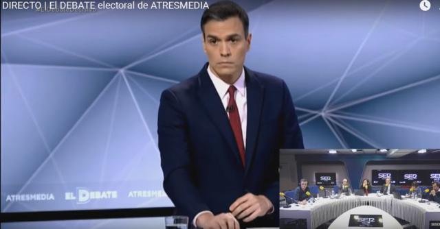 """[La Sexta] La Sexta Noticias: """"Iglesias se desvincula de Pedro Sánchez y evita comparecer conjuntamente"""" Debate10"""