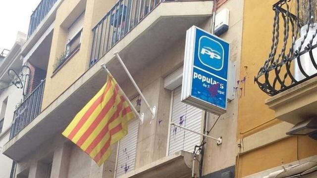 """[Antena 3] Antena 3 Noticias: """"Atacan las sedes del Partido Popular en cataluña"""" Ppcuga10"""