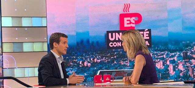"""[Antena 3] Espejo público con Pablo Casado: """" Es necesario que las fuerzas armadas amparadas por el artículo 8 garanticen en Cataluña la integridad territorial y el ordenamiento jurídico"""" Whatsa10"""