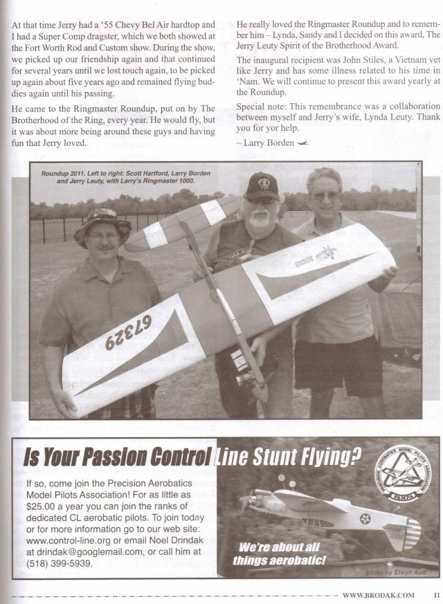 1st Quarter Control Line World Magazine 110810
