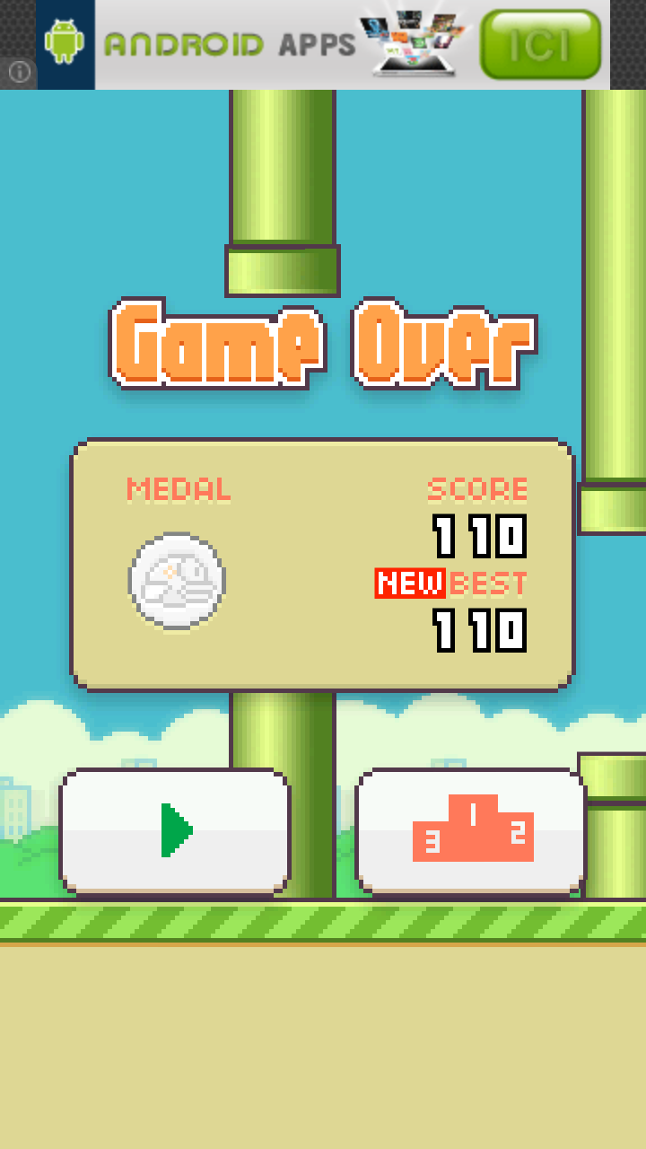 Flappy bird, votre record ? Screen11