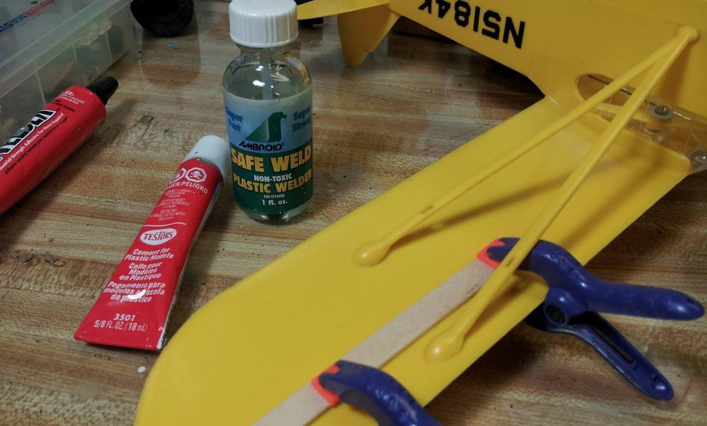 Best way to repair Cox plane parts? 14609010