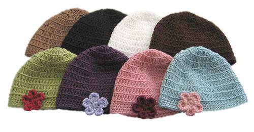 قبعات كروشي جميلة 10203610