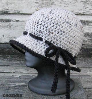 قبعات كروشي جميلة 19305610