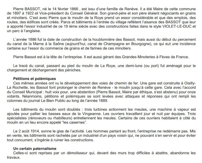 Dt 21: Côte-d'Or Moulins de Bézouotte Bassot frères à Renéve Bezouo11