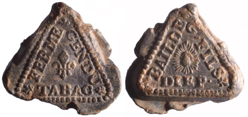 1) Les plombs de tabac de Guillaume Fils adjudicataire de la ferme de 1715 à 1718 D53610