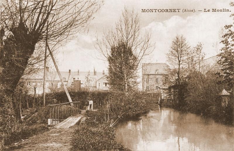 Dt 02: Aisne Moulin de Montcornet  Martinet Legre Montco10