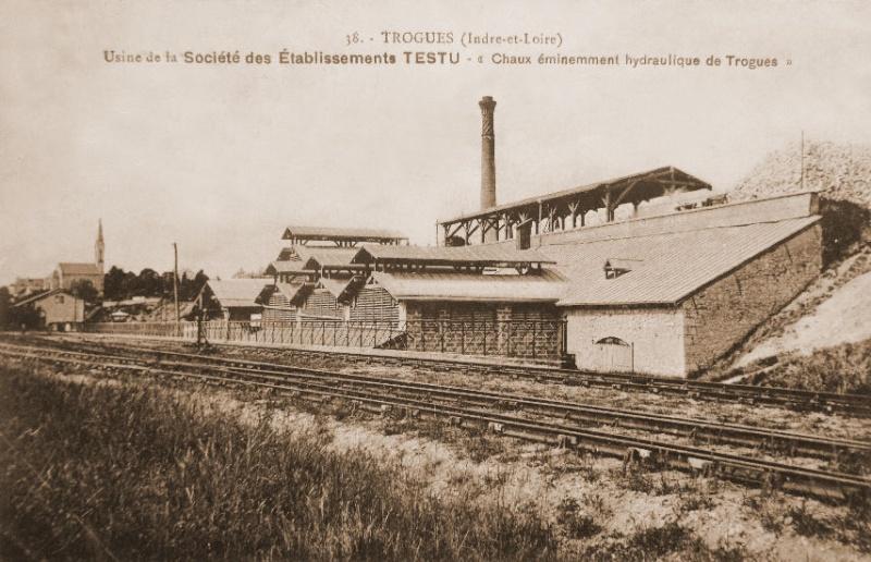 Dept:37 Indre-et-Loire, Usine à chaux hydraulique Testu, à Trogues Trogue10