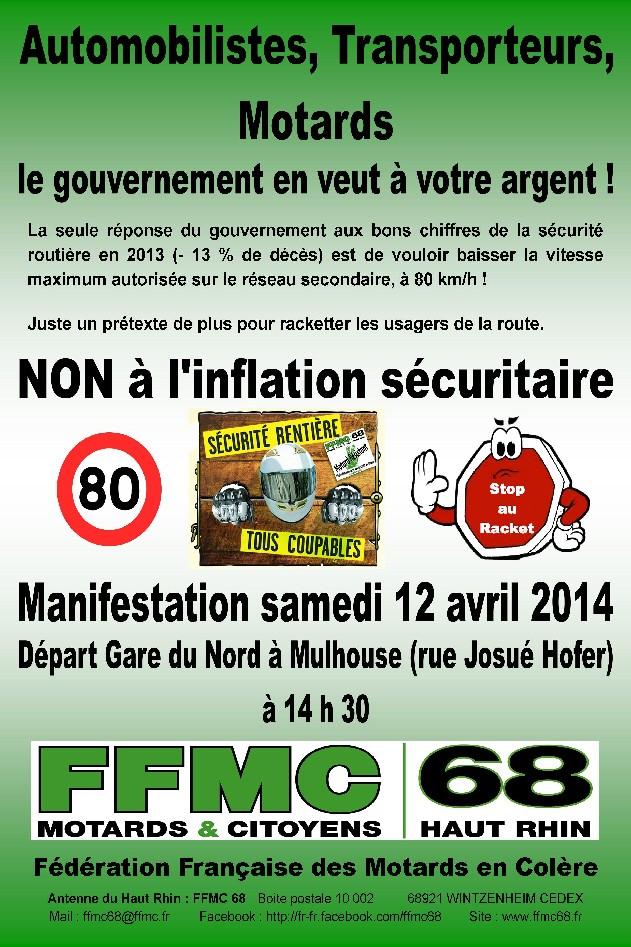 Limitation à 80 km/h : manifs FFMC les 12/13 avril 2014 Contre10