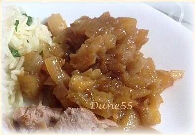 Confiture de cubes de pommes et d'oignons Image272