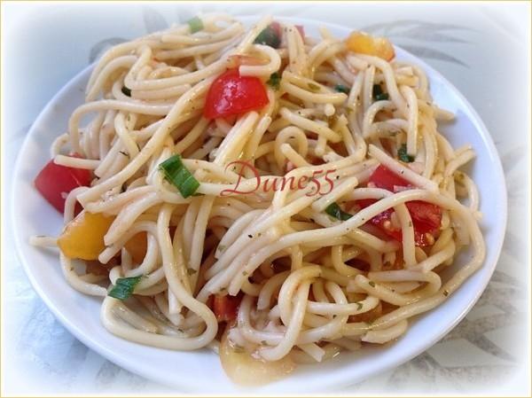 Salade touski de pâtes aux tomates  Lizsri10