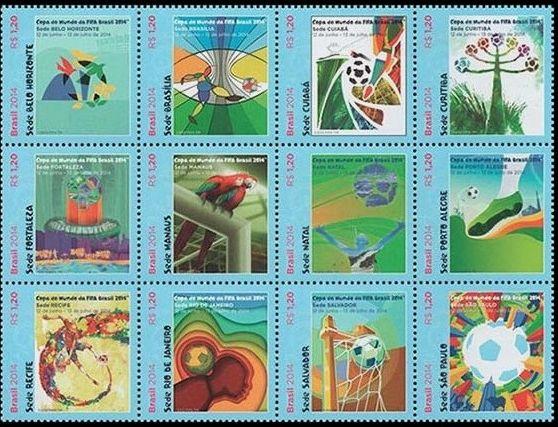 Timbres (Brésil) - Coupe du Monde de Football FIFA Brazil 2014 208_0010