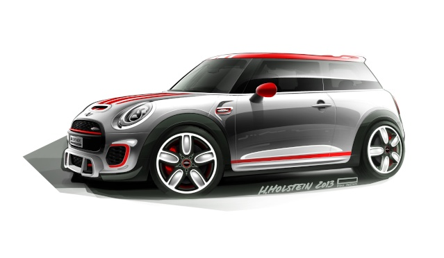 Setting its sights on pole position: The MINI John Cooper Works Concept P9014011
