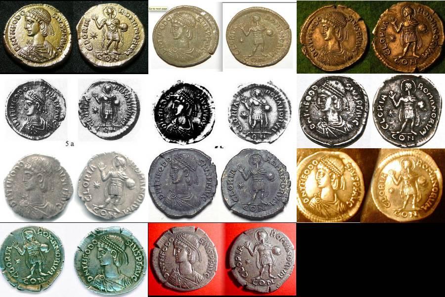 Comparaison de coins du Miliarense de Théodose II   Sans_115
