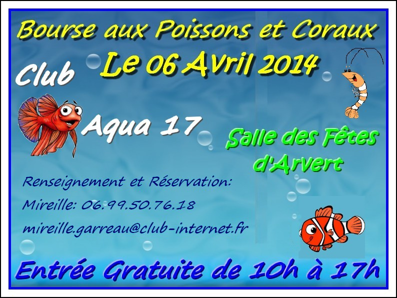 Bourse Avril 2014 Club Aqua17 Bourse13