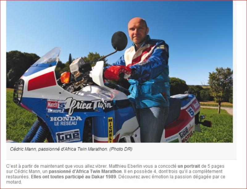 moto Journal consacre un article à Cedric. Cedric10