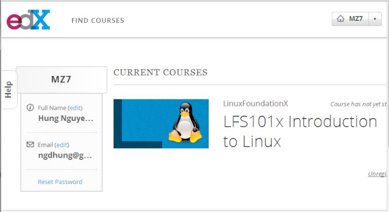 Khóa học online giới thiệu Linux trị giá 2400 USD được miễn phí Edx510