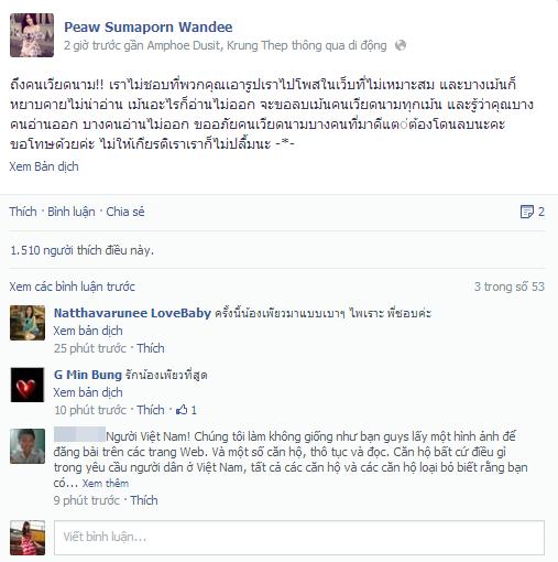 """Hot girl Thái Lan phản ứng trước sự quá """"lố"""" của cư dân mạng Việt Hot-gi10"""
