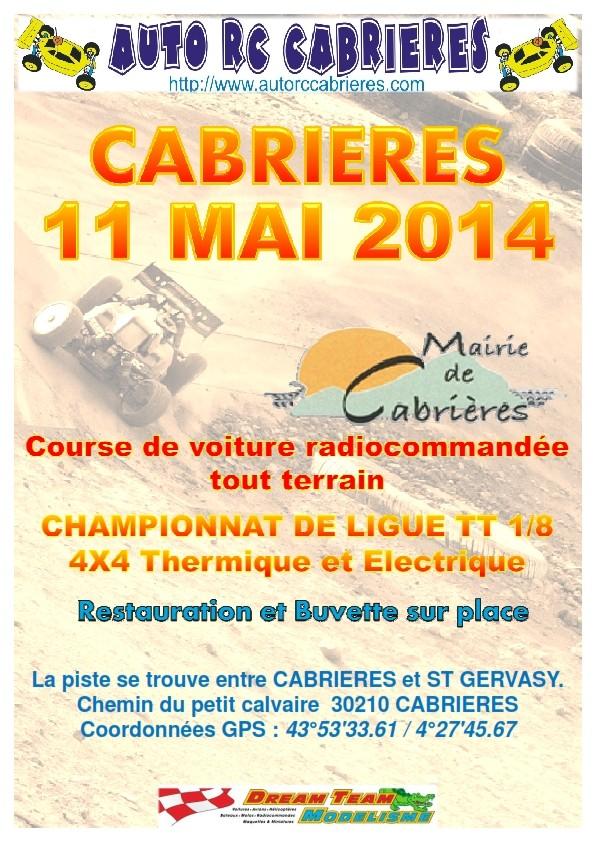 Course de ligue 13 à CABRIERES le 11/05/2014. Affich12