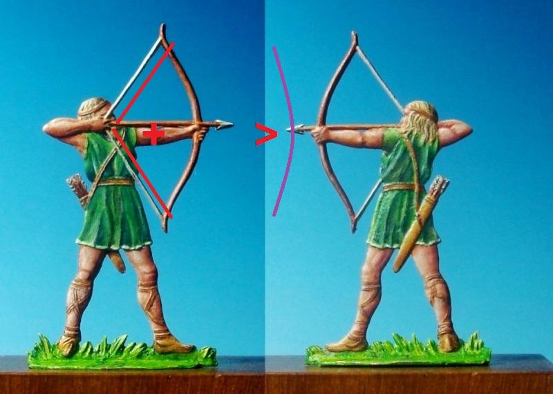 PLAT D'ETAIN: Archer celte [30mm] Fig02210