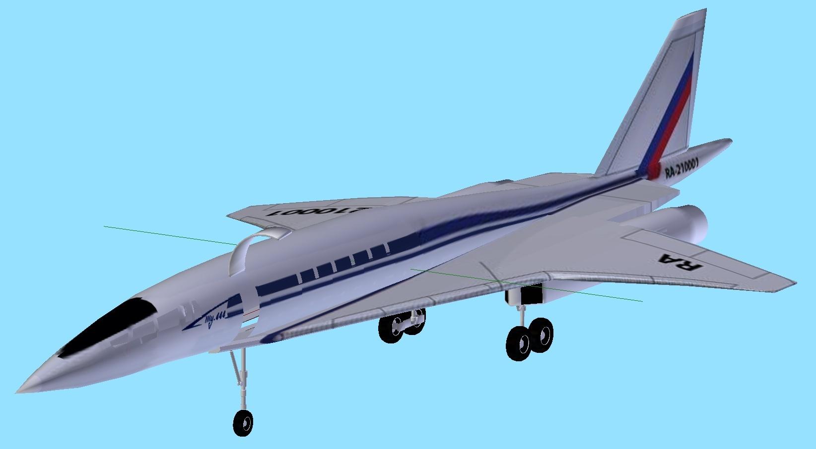 TU-444 SSBJ Tu-44410
