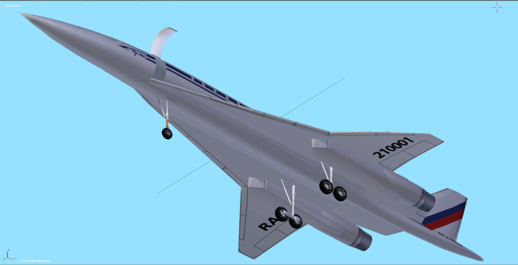 TU-444 SSBJ Tu-44411