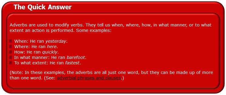 GRAMMAR - Adverbs Adverb10