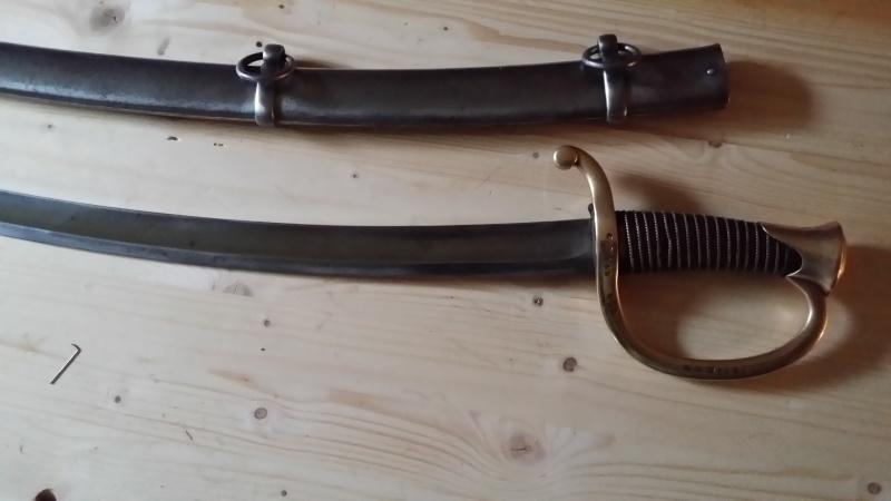 Restauration d'un sabre d'artillerie modèle 1829 15431410