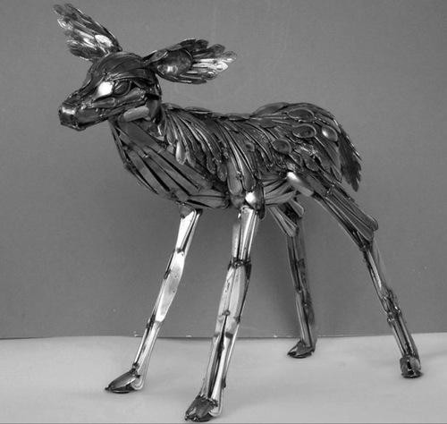 Incredible Art Made From the Mundane 7-deer10