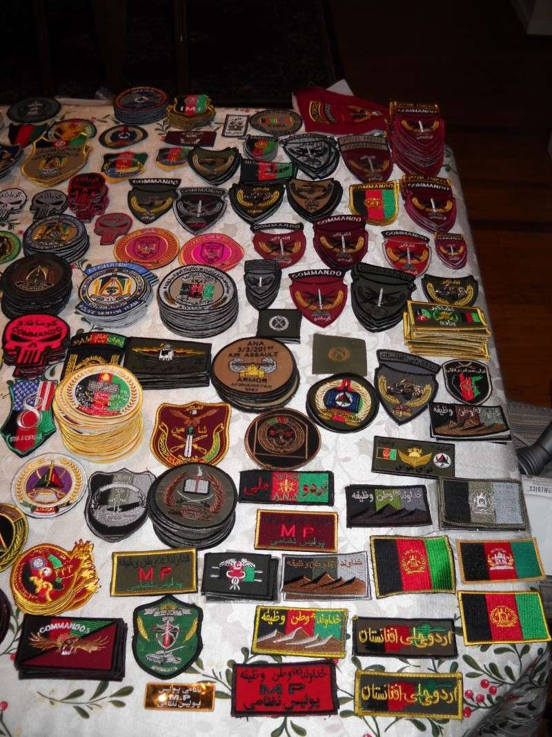 Some of my Afghan Army and Police patches from last deployment Dscn2113
