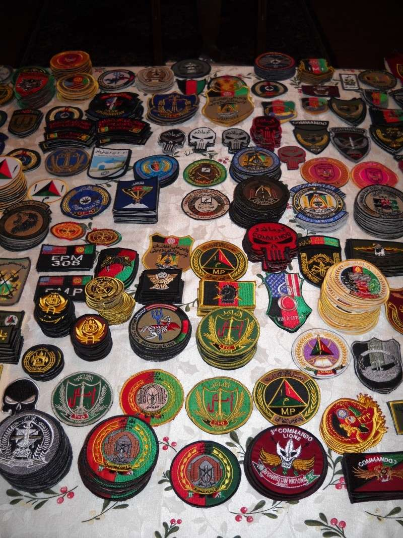 Some of my Afghan Army and Police patches from last deployment Dscn2114