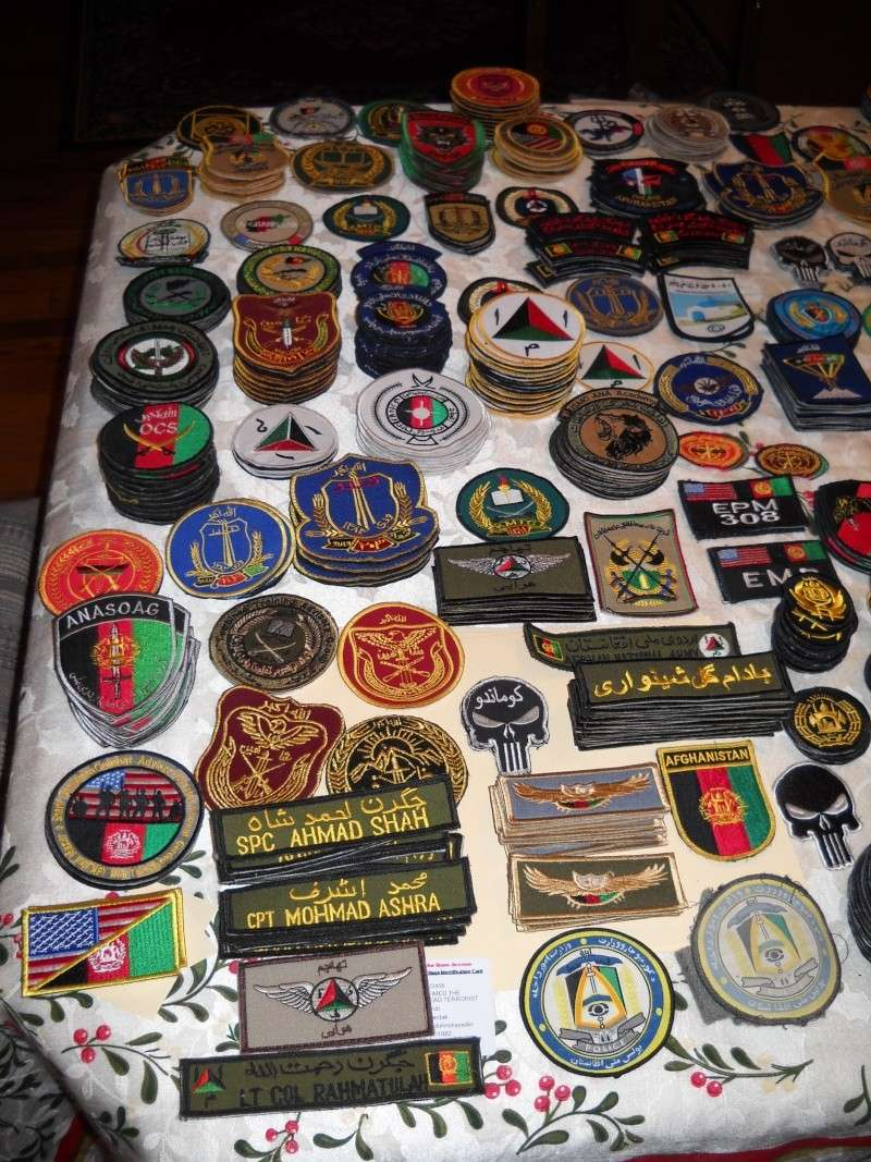 Some of my Afghan Army and Police patches from last deployment Dscn2116