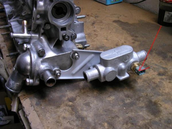 Couleur sonde thermistance temperature d'eau sur bloc moteur Xwjscm10