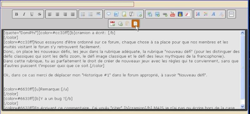 """Répondre avec """"citer"""" : y a un bug ? [Résolu] Editio11"""