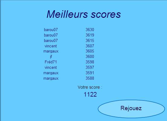Les départements. Score210