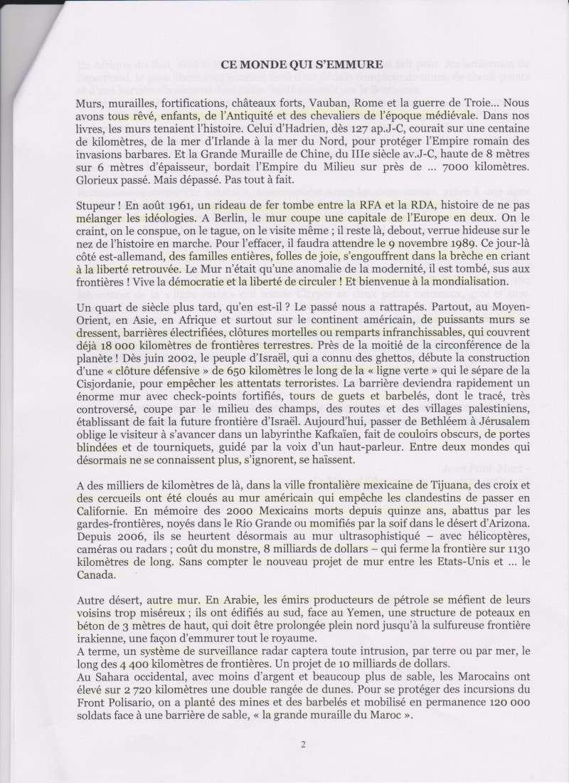 "CONCOURS IFSI 2014: HAUT-RHIN 68: ""CE MONDE QUI S'EMMURE"" 2_mulh11"