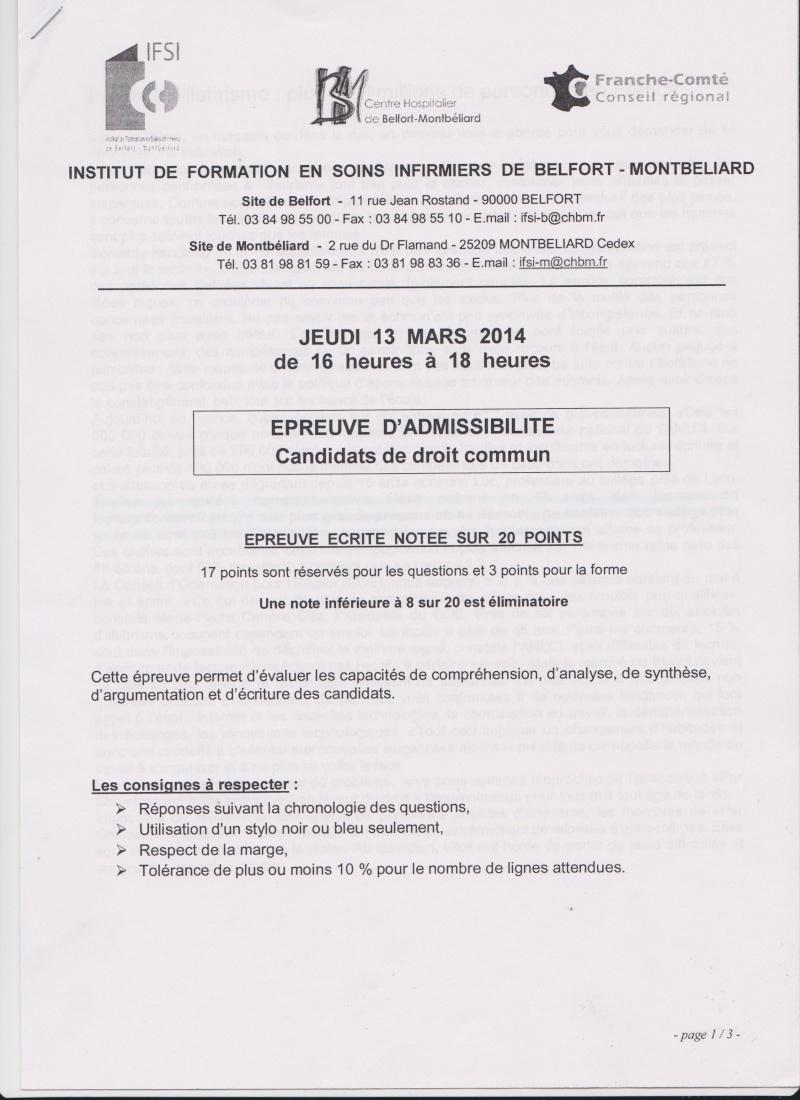 CONCOURS IFSI 2014: BELFORT MONTBÉLIARD  LE 13 MARS 2014 Belfor10
