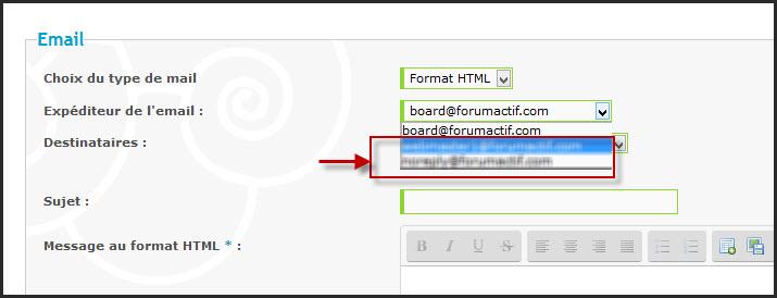 Mail par défaut des notifications envoyées par les forums Forumactif avec nom de domaine perso 23-01-10