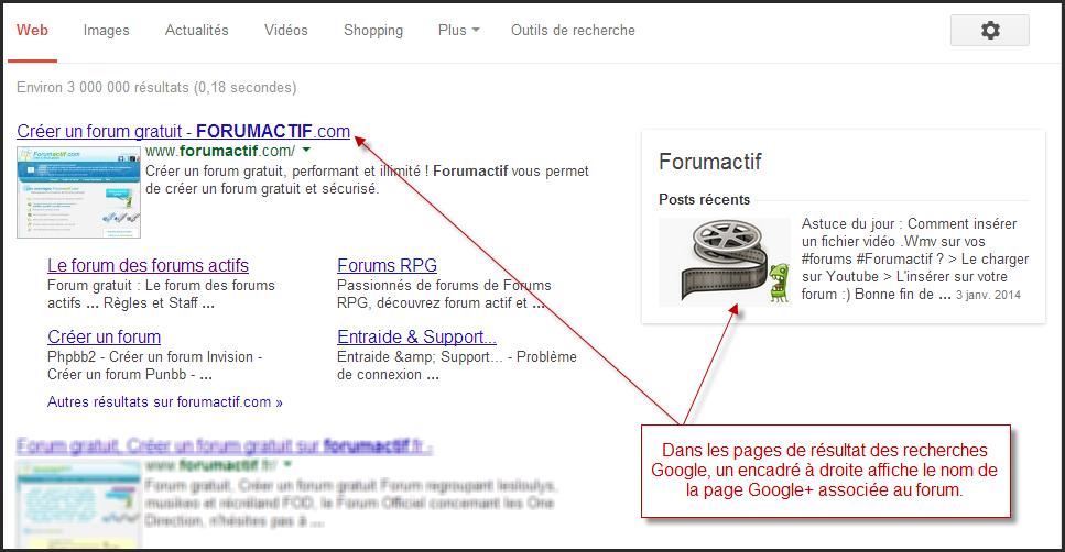 Nouveauté Forumactif: Possibilité de lier votre forum à sa page Google+ 29-01-11