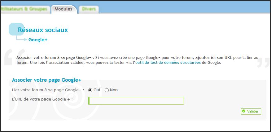 Nouveauté Forumactif: Possibilité de lier votre forum à sa page Google+ 29-01-12
