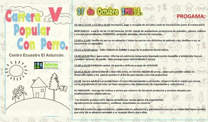 Puesto de Esperanza Felina en la V Carrera Popular con Perro. Llanera (Asturias) 02710