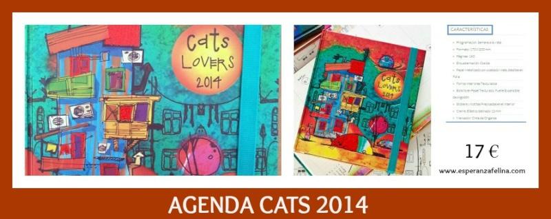 AGENDA Gatos 2014 , LIBRETAS, CALENDARIOS Y TARJETERO Agenda10