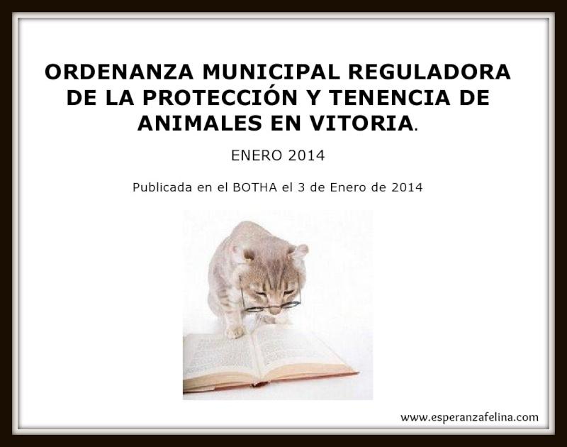 Esperanza Felina en la creación del Consejo de Convivencia, Defensa y Protección de los animales del Ayuntamiento de Vitoria Caratu10