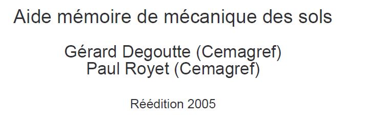 Aide Mémoire  de mécanique des sols  Captur12