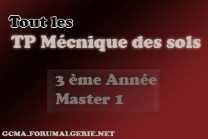 Master - Tout les TP de Mécanique des sols ( MDS ) 3ème  et Master 1 Sans-t10