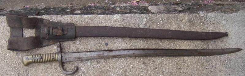 Baionnette française de fabrication d'urgence pour le Remington Dscn9641
